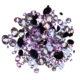 Many small purple diamonds