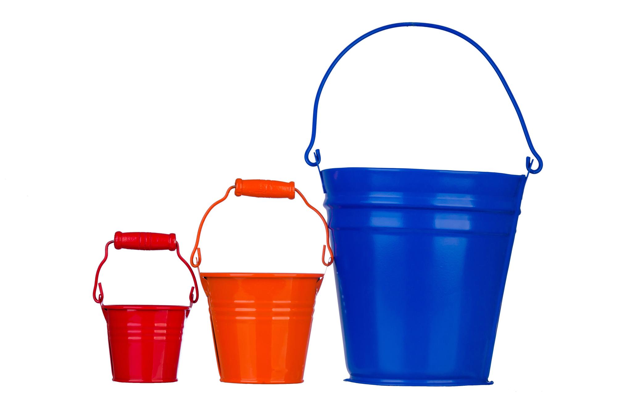 We're gonna need a bigger bucket (image of three buckets)