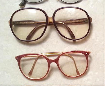 Collection of old glasses
