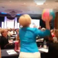 Organizers frolic between sessions at NAPO conference