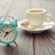 Alarm clock and morning coffee